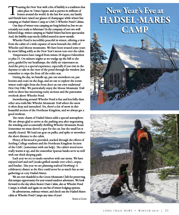 Long trail hadsel article